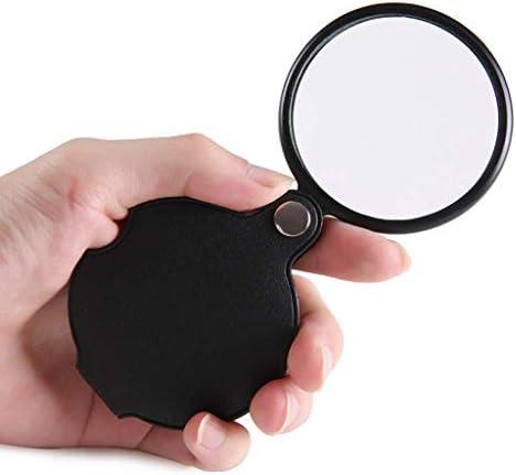 ZY-YY 10倍のHDポータブル老人読書拡大鏡折りたたみ可能なハンドヘルド拡大鏡