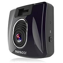 PAPAGO GS3508G GoSafe 350 1080P Full HD Mini Dash Cam with GPS Logging Feature, Bonus 8GB Micro SD Card, Black