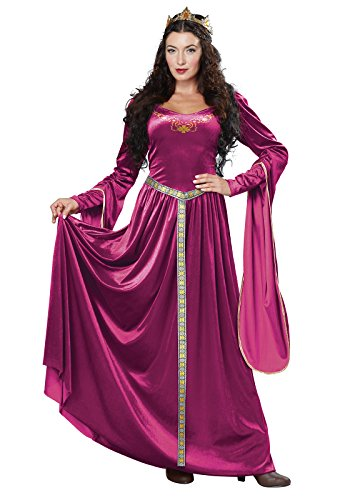 California Costumes Women's Lady Guinevere Costume/Berry, -