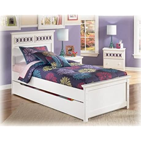 Ashley Furniture Signature Design Zayley Trundle Under Bed Storage Contemporary White