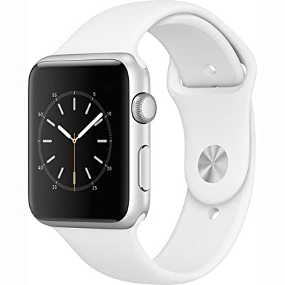 Apple Watch Series 1 Smartwatch 42mm Silver Aluminum Case, White Sport Band (Newest Model) (Certified Refurbished)