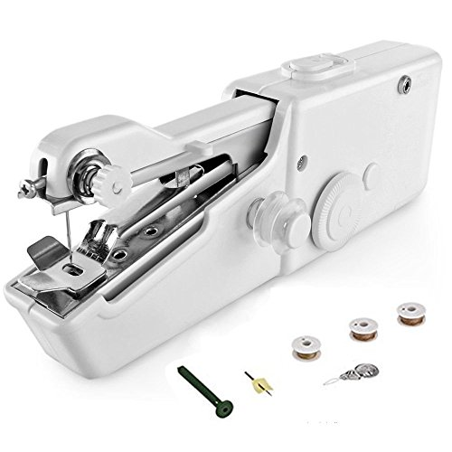 E-lishine Handy Stitch,Mini Handheld Portable Electric Sewing Machine for Fabric, Clothing, Kids Cloth Home Travel Use by E-lishine