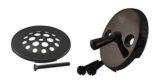 Westbrass Beehive Grid Tub Trim Grate with Trip Lever Faceplate, Oil Rubbed Bronze, D92-12 (Drain Shower Grid Kit)