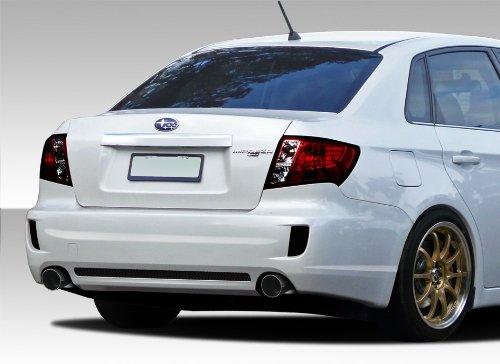 Duraflex ED-VYV-279 STI Look Rear Bumper Cover - 1 Piece Body Kit - Compatible For Subaru Impreza 2008-2011