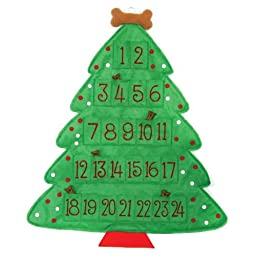 Christmas Tree Felt Bone Advent Calendar