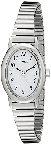 Timex Women's T21902 Cavatina Silver-Tone Stainless Steel Expansion Band (Timex Stainless Steel Wrist Watch)