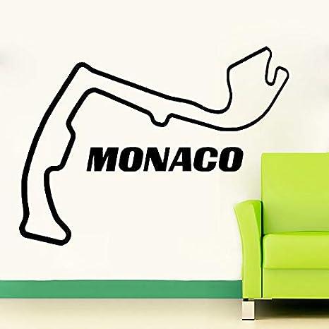 zlhcich Circuito de Mónaco Race Track Etiqueta de La Pared ...