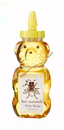 All Natural Baby Wash - Essential Oils, Honey, Aloe Vera and Other Natural Ingredients in a Wonderful Baby Washing Formulation - Your Baby Will Love the Teddy Bear Bottle - 8 Fl Oz (1 Bottle) ()