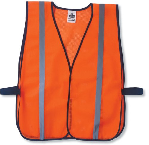 Visibility Vest - Ergodyne GloWear 8020HL Non-Certified Reflective High Visibility, One Size, Orange