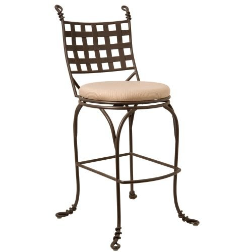 Kalco Lighting F600BA Swivel Bar Stool Without Arms - Hand Forged Iron Bar Stool