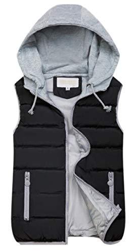 注釈環境保護主義者閲覧するFly Year-JP 女性のコートは、スリムパフコットンパッド付き袖袖ノースリーブ冬ベスト