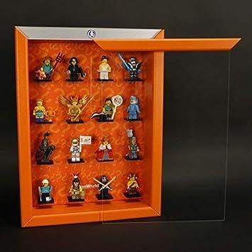 Caja para Figuras Click Sistema Vitrina para Vuestro Lego Serie 15 71011 Naranja: Amazon.es: Juguetes y juegos