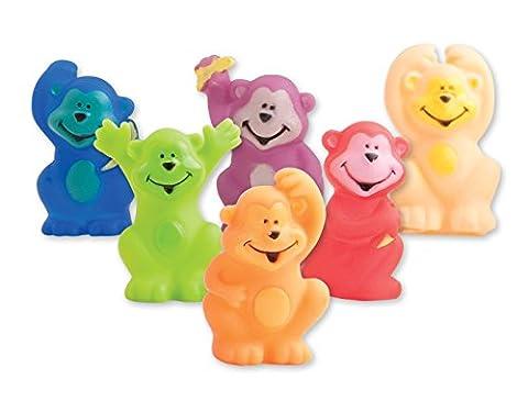 Neon Monkey Finger Puppets 36 per pack - Monkey Finger Puppet