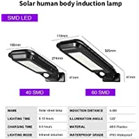 FairOnly Led Solar Street Lights Outdoor Lighting Security Lamp Waterproof Motion Sensor Wall Lamp Small Street Light Patch 40LED Dual Function (3000mAh Battery)