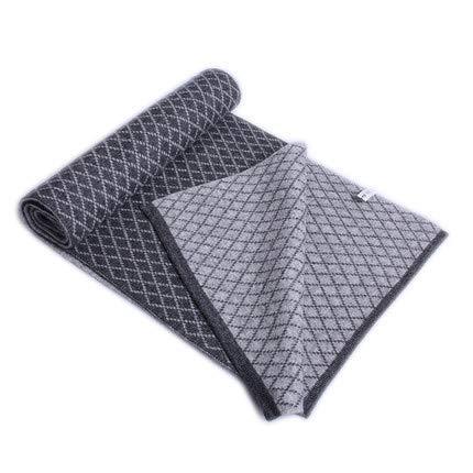 Cachemire Écharpe Gray Bicolore Double Mélangée Face Hommes Mode Muzi Chauds Trade Laine 9IDYeEWH2
