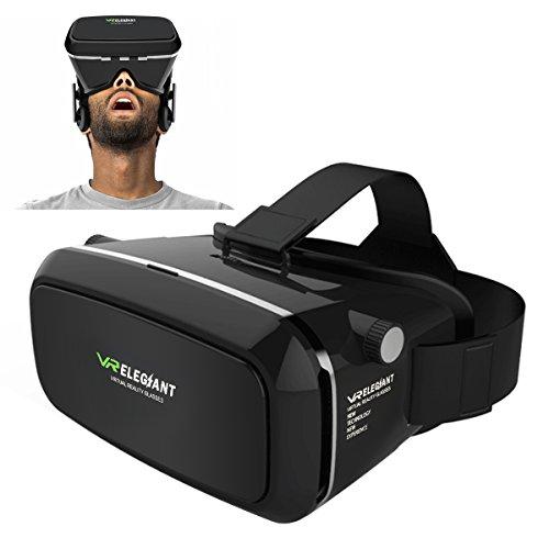 ELEGIANT Universal 3D VR Einstellbar Virtual Reality Brille Karton Video Movie Game Brille virtuelle Realität Glasses für 3.5