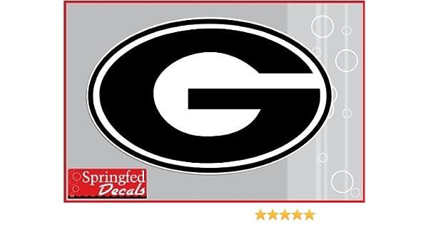 Amazoncom Georgia Bulldogs Black G Logo 12 Vinyl Decal Uga Car