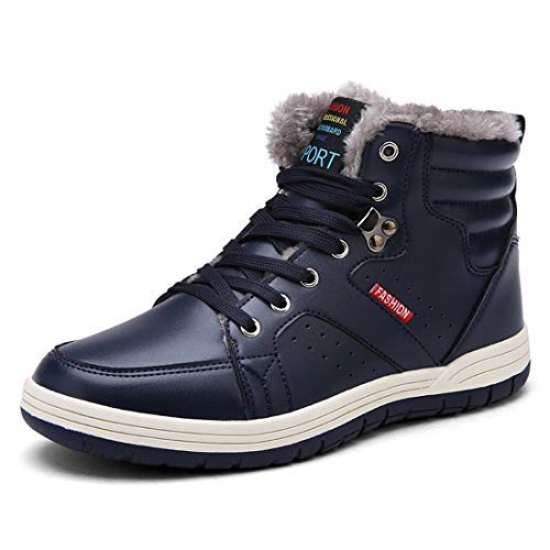 Just New Fashion Men Winter Shoes Solid Color Snow Boots Plush Inside Antiskid Bottom Keep Warm Boots Size 41-47 Black Brown Grey Men's Boots