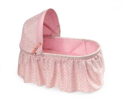 Badger Basket Folding Doll Cradle with Rosebud Fabric (fits American Girl ()
