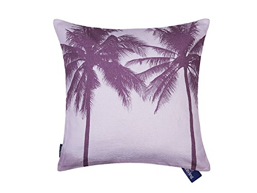 (Aitliving Accent Pillow Cover Cotton Canvas Ocean Tropical Palm Tree Seaside Sunset Cushion Cover Pink Violet Vintage Retro Photo Digital Printing 18