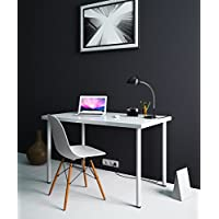 Modern Multi-use Computer Desk Workstation for Office , Home Office , Dorm Room , 47 1/4x28 White