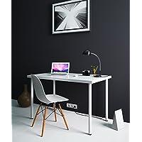 Modern Multi-use Computer Desk Workstation for Office , Home Office , Dorm Room , 47 1/4x28 White