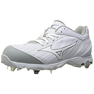 Mizuno Women's 9-Spike Advanced Sweep 3 Softball Shoe, White, 9.5 D US
