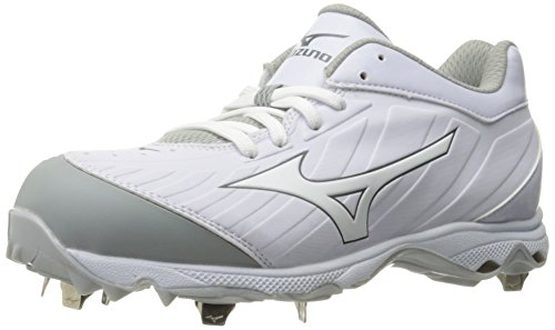 Mizuno Women's 9-Spike Advanced Sweep 3 Softball Shoe, White, 8 D US