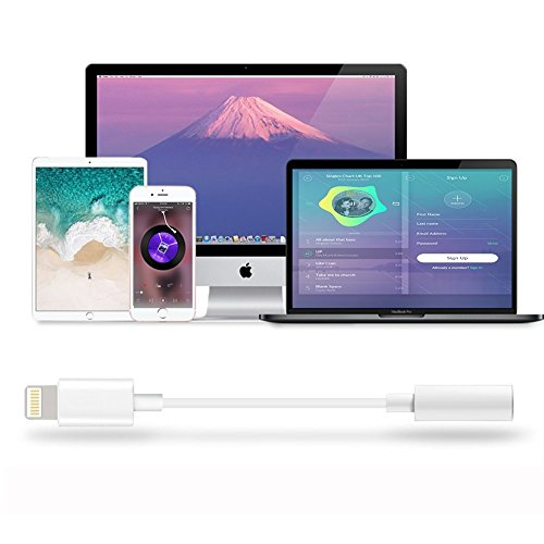 Compatible iPhone X Adapter Headphone Jack, Lightning to 3.5mm Headphone Jack Adapter Dongle Compatible iPhone X 10/ iPhone 8/8 Plus/iPhone 7/7 Plus iPod Touch iPad Support iOS 10.3 11 Later by ZestyChef (Image #6)