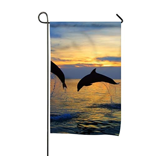 - yyoungsell Welcome Garden Flag Vertical Outdoor and Indoor Decorative Dolphins Caribbean Double Sided Flag for Spring Summer Farm House