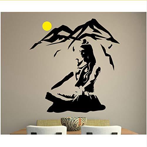 Yangll El Señor Shiva Etiqueta De La Pared Yoga Pose De Loto ...