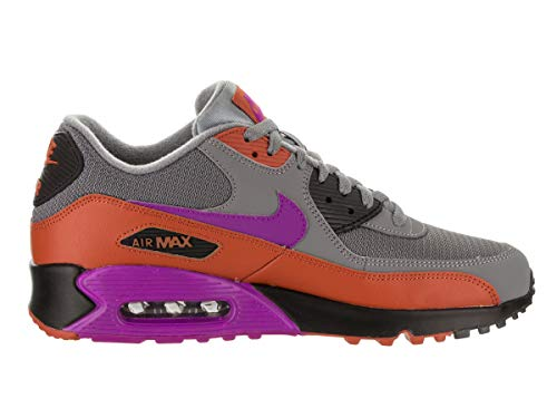 Nike Mens Air Max 90 Essential Running Shoes Cool GreyVivid PurpleDark RussetBlack AJ1285 013 Size 10
