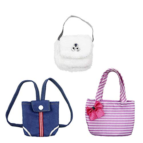 KODORIA 3pcs Shoulder Bag Handbag Backpack for 18 Inch American Girl Doll Party Accessories