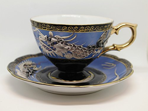 Beautiful SHAFFORD Japan Hand Decorated Cup 2pc Dragon