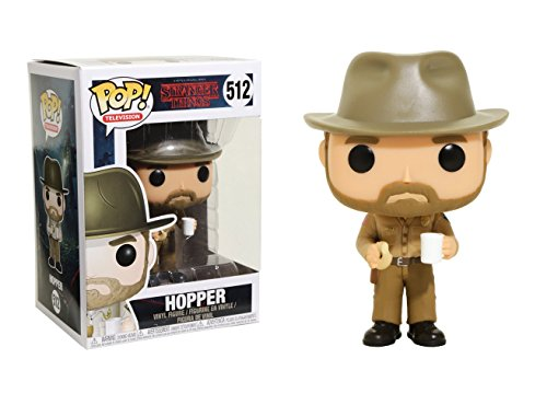 Funko Pop Television: Stranger Things-Hopper with Donut (Styles May Vary) Collectible Figure by Funko