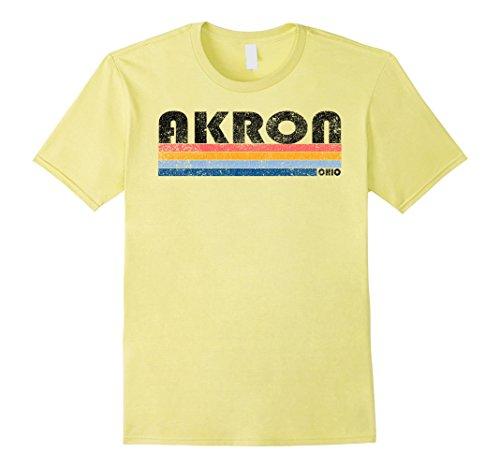 Mens Vintage 1980s Style Akron Ohio T Shirt Large - 10 Style Akron