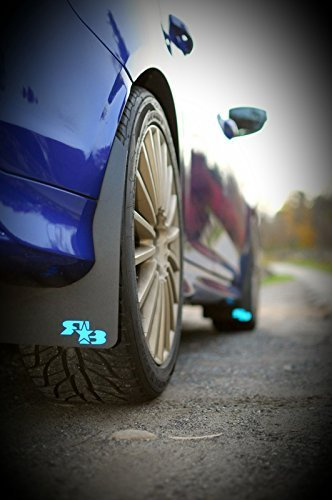 Black with Black Logo, Originalz RokBlokz Mud Flaps for 2012+ Ford Focus Fits All MK3 Models Multiple Colors Available Includes All Hardware and Detailed Instructions Set of 4