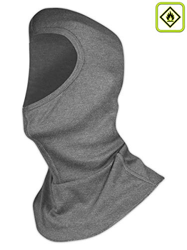 Magid Safety ARH650GY Balaclava | 6.5 oz. AR Defense NFPA 70E HRC/CAT 2 ASTM D6413 Compliant Balaclava - 8.2 Cal/cm2 ATPV Arc Rating, One Size Fits All, Gray (1 Balaclava) (Arc Flash Safety)