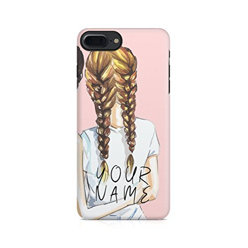 (Personalised Best Friend Custom Text Blonde Bestfriend Name Initials Every Blonde Needs A Brunette Best friend Protective Hard Plastic Case Cover For iPhone 7 Plus/iPhone 8 Plus)