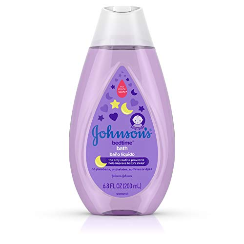 Johnson's Baby Tear-Free Bedtime Baby Bath with Soothing Natural Calm Aromas, 6.8 Fluid Ounce