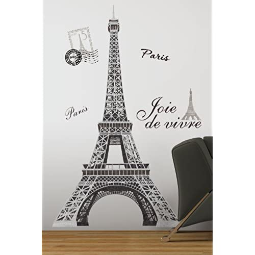 RoomMates RMK1576GM Eiffel Tower Peel And Stick Giant Wall Decal
