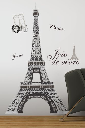 Roommates Stickers (RoomMates RMK1576GM Eiffel Tower Peel and Stick Giant Wall Decal)