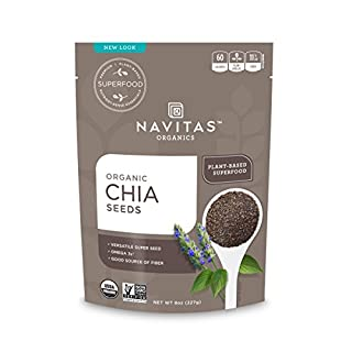 Navitas Organics Chia Seeds, 8 oz. Bag — Organic, Non-GMO, Gluten-Free