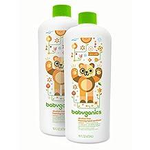 Babyganics Alcohol-Free Foaming Hand Sanitizer Refill, Mandarin, 16oz Bottle (Pack of 2)