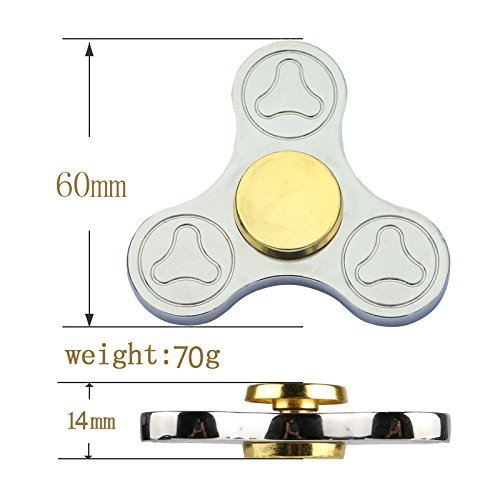 Fidget Spinner EDC Toy Premium Titanium Hand Spinner up to 3min High Speed Relieves Stress Reducer, Relieving Stress, Killing Time,ADD, ADHD, Anxiety, and Autism Adult Children (Black)
