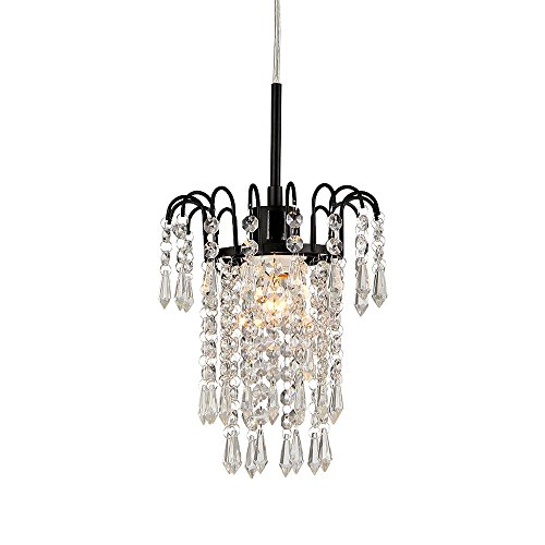 Whse of Tiffany SU1682-1L Jackie Lou 1-Light Crystal Chandelier, 7