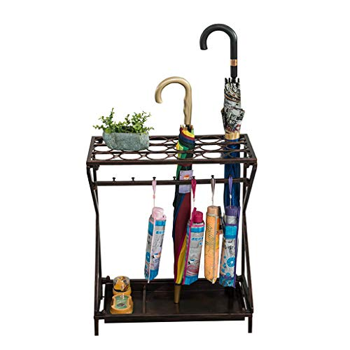 Umbrella Stand Storage, for Canes/Walking Sticks, Metal (Color : Bronze)