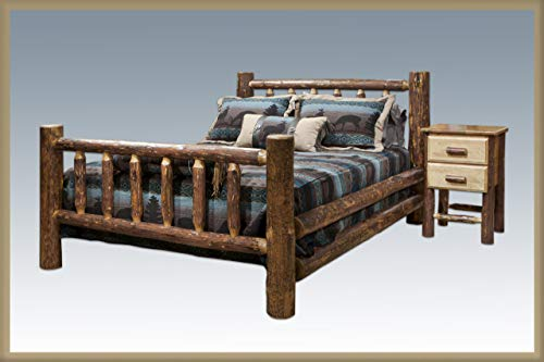 Montana Woodworks MWGCKB Glacier Country Collection Bed, King, Stain and Lacquer