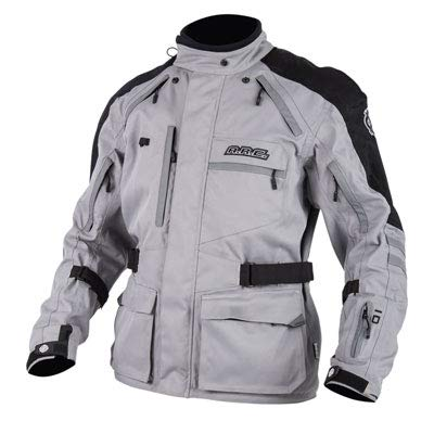 A.R.C. Battleborn Adventure Foul Weather Motorcycle Jacket - GRAY - XXL - Includes free neck gaiter