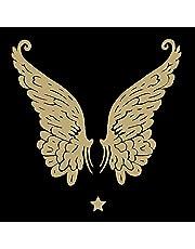 20 servetten engelenvleugels goud-zwart | engel | winter | Kerstmis | tafeldecoratie 33 x 33 cm